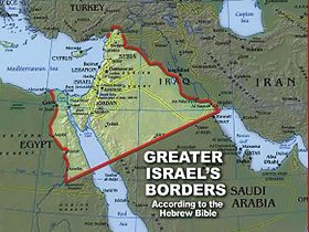 Greater Israel vs so-called Palestine