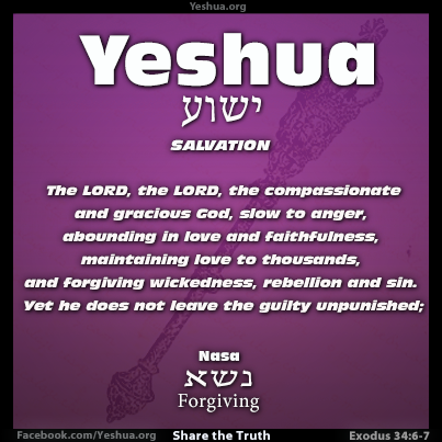 Exodus 34:6-7, foregiveness