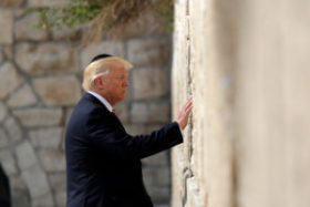 Donald Trump at Western Wall praying to Yeshua