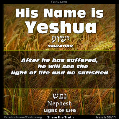 Isaiah 53:11 - Light of Life, Nephesh