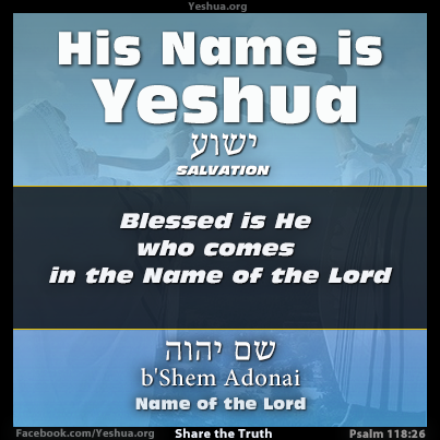 Yeshua in Psalm 118:26 and Matthew 23:39