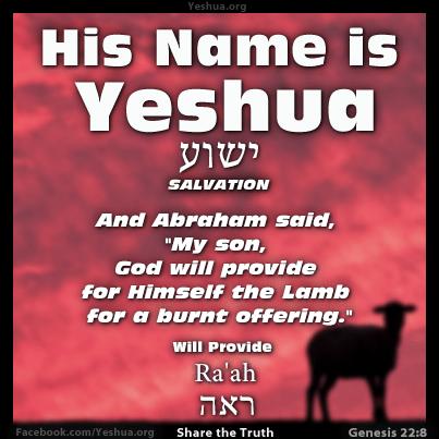 Genesis 22:8, God Will Provide the Lamb, Yeshua
